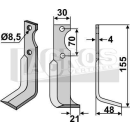 Fräsmesser 155x48x21 RS für Agria 1250 271 30