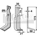Fräsmesser 175x50x21 RS für Agria NH 17549