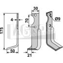 Fräsmesser 175x50x21 LS für Agria NH 17548