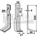 Fräsmesser 205x60 RS für Agria 1250 17223