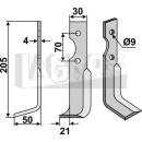 Fräsmesser 205x60 LS für Agria 1250 17222