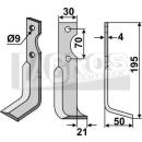 Hackmesser 195x50x21 RS für Agria 1250 210 99