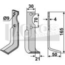 Hackmesser 165x50x21 RS für Agria NH 16549