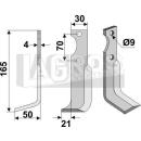 Hackmesser 165x50x21 LS für Agria NH 16548