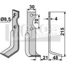 Fräsmesser 215x48  RS für Agria