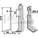 Fräsmesser 215x48  LS für Agria