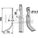 Fräsmesser 190x74 LS für Ferrari