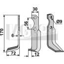 Fräsmesser 170x72 LS für Bertolini S.306-15517/8