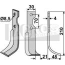 Fräsmesser 210x48 RS für Agria