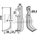 Fräsmesser 210x48 LS für Agria