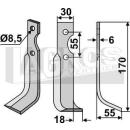 Fräsmesser 170x55 RS für BCS