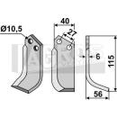 Bogenmesser 115x56 RS für BCS 48426