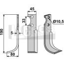 Bogenmesser 190x80  LS für Goldoni