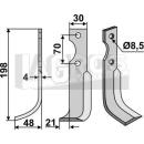 Fräsmesser 198x48 LS für Agria 616113