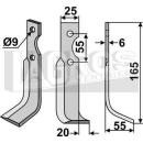 Fräsmesser 165x55 RS für Agria+BCS+Grillo+Iseki