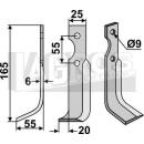 Fräsmesser 165x55 LS für Agria+BCS+Grillo+Iseki