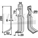 Sichelmesser 200x62 LS für Honda F 400/80