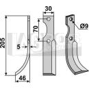 Bogenmesser 205x46 LS für Honda F 300