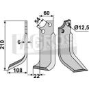 Fräsmesser 210x108x22 LS für Goldoni 20137