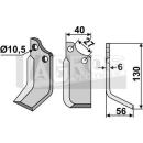Bogenmesser 130x56 RS für BCS 58043434