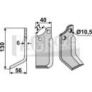 Bogenmesser 130x56 LS für BCS 58043433