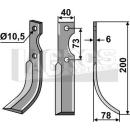 Fräsmesser 200x78 RS für Eurosystems