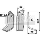 Bogenmesser 142x72 RS für Ferrari