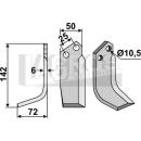 Bogenmesser 142x72 LS für Ferrari