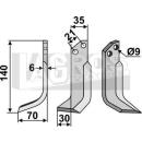 Schrägbogenmesser 140x70 LS für Grillo 7088