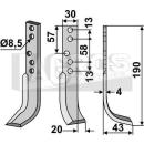 Hackmesser 190x43 RS für Holder E 3