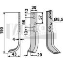 Hackmesser 190x43 LS für Holder E 3