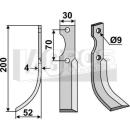 Bogenmesser 200x52 LS für Honda