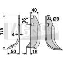 Fräsmesser 175x50 LS für Tielbürger