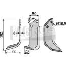 Bogenmesser 152x72 LS für Grillo 7636