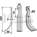Bogenmesser 225x68 LS für Honda F 600/80