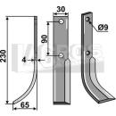 Fräsmesser 230x65 LS für Honda F 50/65 neu