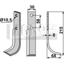 Fräsmesser 215x68 RS für Bertolini BM 10-310