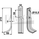 Fräsmesser 215x68 LS für Bertolini BM 10-310