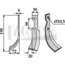 Fräsmesser 190x72 LS für BCS/Bertol/Ferrari/Grillo