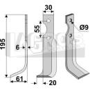 Schrägbogenmesser 195x61 LS für Grillo 10204