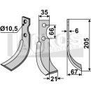 Schrägbogenmesser 205x67 RS für Grillo 11293