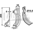Schrägbogenmesser 205x67 LS für Grillo 11294