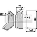Winkelmesser 170x140 RS für Howard 9901 9924