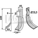 Schrägbogenmesser 220x65 LS für Grillo 9254