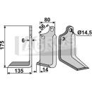 Winkelmesser 175x135 LS für Maschio 02108431