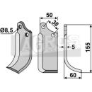 Spatenmesser 155x60 RS für Agria Tielbürger