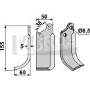 Spatenmesser 155x60 LS für Agria Tielbürger