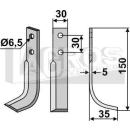 Hackmesser 150x35 RS für Holder E 6