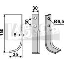 Hackmesser 150x35 LS für Holder E 6