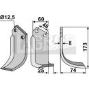 Schrägbogenmesser 173x75 RS für BCS